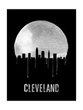 Cleveland Skyline Black Prints