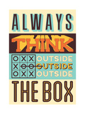 Outside the Box Posters by  Vintage Vector Studio