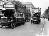 Buses Driven by Volunteers Seen Here in Oxford Street During the 10th Day of the General Strike Photographic Print by  Staff