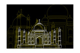 Taj Mahal Night Prints by Cristian Mielu