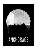 Anchorage Skyline Black Posters