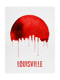Louisville Skyline Red Poster