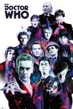 Doctor Who- 12 Doctors Collage Plakát
