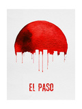 El Paso Skyline Red Posters