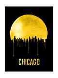 Chicago Skyline Yellow Posters