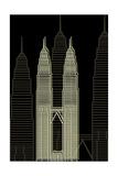 Kuala Lumpur Night Poster by Cristian Mielu