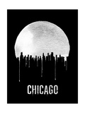 Chicago Skyline Black Prints