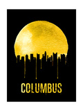 Columbus Skyline Yellow Prints