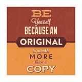 Bądź sobą, angielski Plakaty autor Lorand Okos