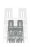 Notre Dame Prints by Cristian Mielu