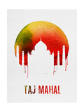 Taj Mahal Landmark Red Posters