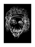 Albert Einstein 2 Prints by Octavian Mielu