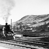 Steam Train Leaving Blair Atholl, 1947 Photographic Print by  Staff