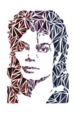 Michael Jackson, Engelse tekst: King of Pop Poster van Cristian Mielu