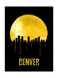 Denver Skyline Yellow Posters