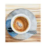 Happy Death by Coffee Prints by Jennifer Redstreake Geary