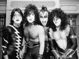American band 'Kiss' at the Hilton, London, 1982 Fotografisk tryk af Albert Foster