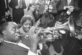 Louis Armstrong at the Mayfair Hotel 1960 Photographic Print by Terry Fincher