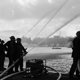 Auxiliary Fire Service exercise in Hyde Park, 1957 Photographic Print by Ted Heanley M.B.E. D.F.C.