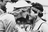 Princess Diana Rubs Noses with Maori Girl, 1983 Photographic Print by Kent Gavin