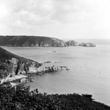 Moulin Huet Bay and Jerbourg Point on the Island of Guernsey 1965 Photographic Print by  Staff
