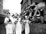 Navy Cooks with Christmas Puddings. 23rd November 1956 Photographic Print by Reg Lewis