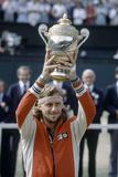 Wimbledon Final 1980. John Mcenroe V Bjorn Borg, 1980 Fotografiskt tryck av  Cottrell