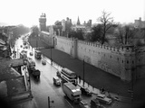 Cardiff Castle, 15th February 1955 Fotodruck von  Stephens