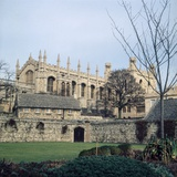 A view of Christ College in Oxford. January 1972 Photographic Print by P. Stuart