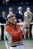 Wimbledon Final 1980. John Mcenroe V Bjorn Borg. 5th July 1980 Fotografisk tryk af Cottrell