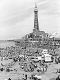 Blackpool tower, 1894 Fotografisk tryk af Unknown