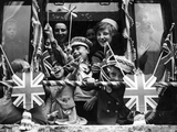 Street Party for Coronation of Queen Elizabeth Ii Photographic Print by  Staff