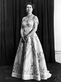 Queen Elizabeth official portrait for the Coronation 1953 Photographic Print by Daily Mirror