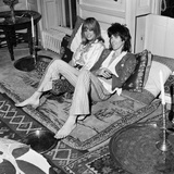 Keith Richards with Anita Pallenberg at their Home, 1970 Photographic Print by  Staff