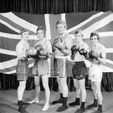 British holds 6 European Boxing champions, 1974 Fotografisk tryk af Staff
