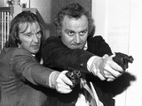 Dennis Waterman and John Thaw in the Sweeney Fotografisk tryk af  Staff