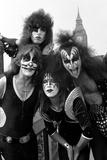 American band ' Kiss' Westminster Bridge, 1976 Fotografisk tryk af Kent Gavin