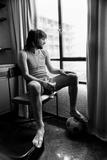 George Best Ex Girlfriend Fotografisk tryk af Eddie Sanderson