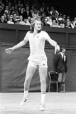 John Mcenroe at Wimbledon, 1977 Papier Photo par Mike Maloney