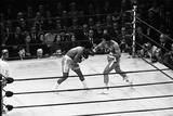 Muhammad Ali Catches Joe Frazier Fotografisk tryk af Monte Fresco