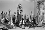 John Entwistle with Bass Guitars Fotografiskt tryck av George Phillips