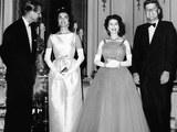The Duke of Edingurgh, Jackie Kennedy, the Queen and President Kennedy 1961 Photographic Print by  Staff