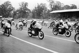 Motor Cycle Racing at Oulton Park, 1963 Fotografisk tryk af Terry Mealy