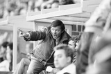 Alex Ferguson Watches His Team V Norwich November 1986 Photographic Print by Allan Olley