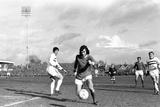 Manchester United Footballer George Best 1970 Fotografisk tryk af Staff