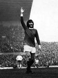 Manchester United Footballer George Best Celebrates after Scoring 1971 Fotografisk tryk af  Staff