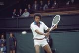 Arthur Ashe Wimbledon 1975 Fotografiskt tryck av J Dempsie
