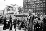 Bill Shankly Liverpool Manager on Liverpool Team Homecoming 1971 Photographic Print by Daily Mirror