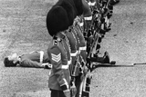 Parading guardsmen throwing a fit of the wobblies, 1979 Photographic Print by  Staff