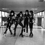 American band ' Kiss' Heathrow Airport, 1976 Photographic Print by Kent Gavin